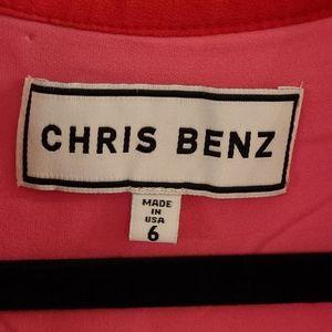 CHRIS BENZ  Made in USA Silk Dress
